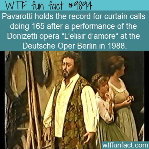 fun fact Pavarotti curtain call