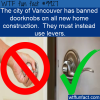 Fun Fact – Door knobs banned in Vancouver