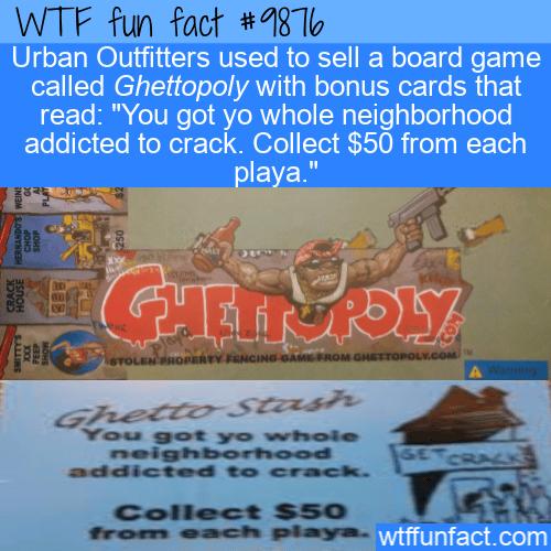 fun fact ghettopoly board game