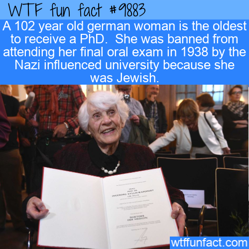 fun fact oldest person to earn phd