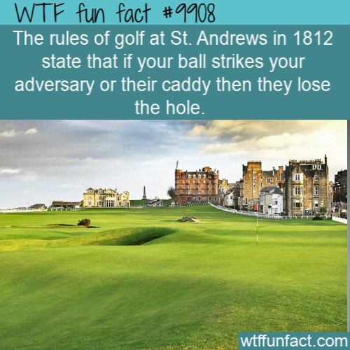 fun fact rules of golf 1812