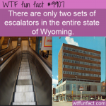 fun fact two sets of escalators in entire state of wyoming