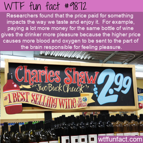 fun fact wine price impacts pleasure