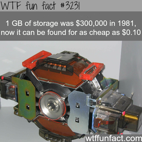1 GB of storage in the 1980s -  WTF fun facts