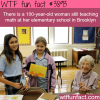 100 year old still teaches math in elementary school