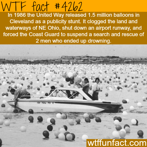 1.5 million balloons released in Cleveland -  WTF fun facts