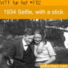 1934 selfie with a stick wtf fun fact