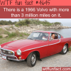 1966 volvo that has 3 million miles on it wtf