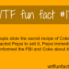 3 people stole the secret recipe of coke wtf fun