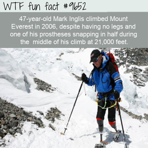 47-year-old Mark Inglis climbed Mount Everest in 2006