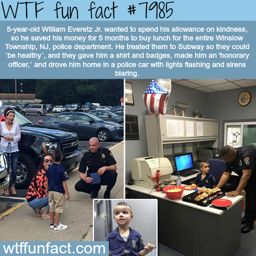 5-year-old saves allowance and spends it on kindness - WTF fun fact
