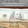 90 of the us currency have cocaine