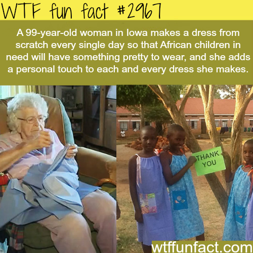 99 year old woman who made tens of kids smile -  WTF fun facts