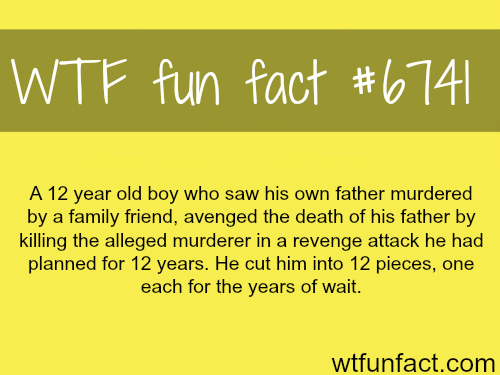 A 12 year old boy planned a murder for 12 years - WTF fun fact