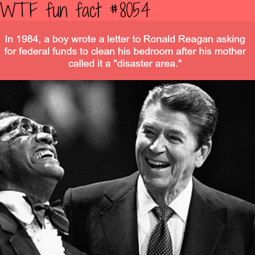 A boy wrote a letter to Ronald Reagan wanting some funds - WTF fun fact