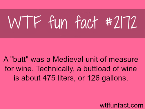 "A ""butt"" is a unit of measure - WTF fun facts"