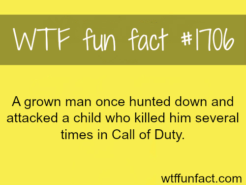 A grown man hunts down a child who killed him in Call of Duty - WTF fun facts