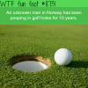 a mystery man has been pooping in golf holes for