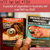 a pack of cigarettes could cost 40 in australia