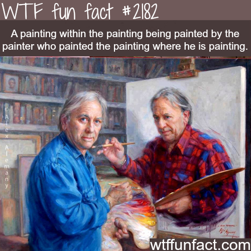 A painting within a painting…. -WTF fun facts