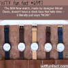 a watch that just says now wtf fun facts