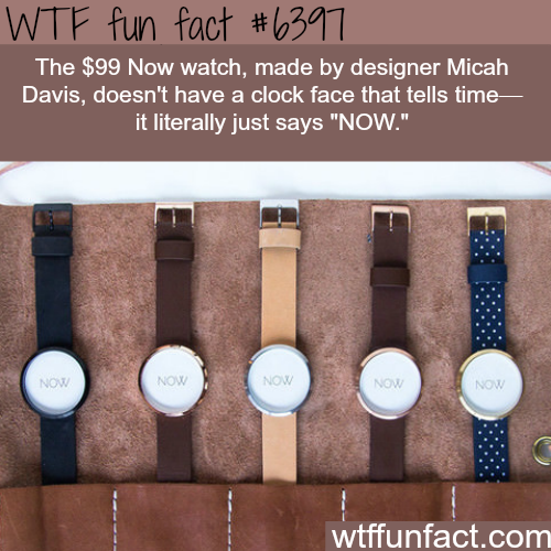"A watch that just says ""NOW"" - WTF fun facts"