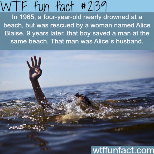 A woman saves a kid at the beach… - WTF fun facts