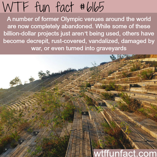 Abandoned Olympic stadiums - WTF fun facts
