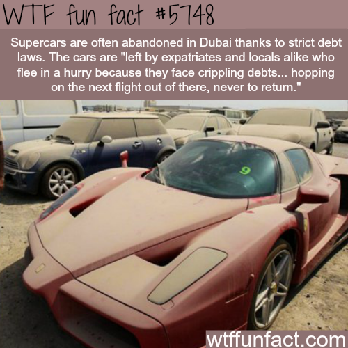 Abandoned supercars in Dubai - WTF fun facts