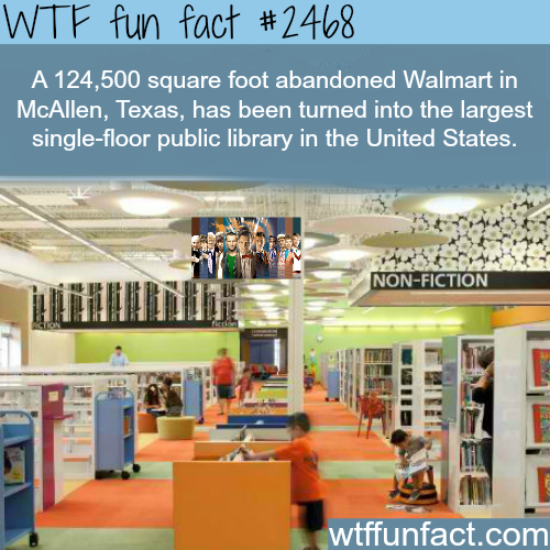 Abandoned Walmart in Texas turned into Library - WTF fun facts