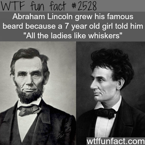 Abraham Lincoln without a beard - WTF fun facts