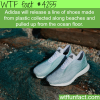 adidas shoes made from plastic collected from the