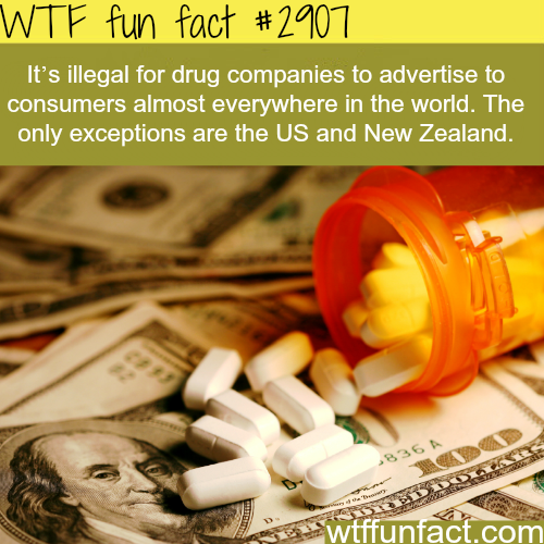 Advertisng drugs in the USA  -  WTF fun facts