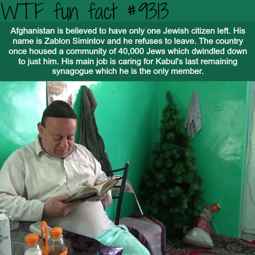 Afghanistan's last Jew - WTF fun fact