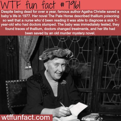 Agatha Christie - WTF fun fact
