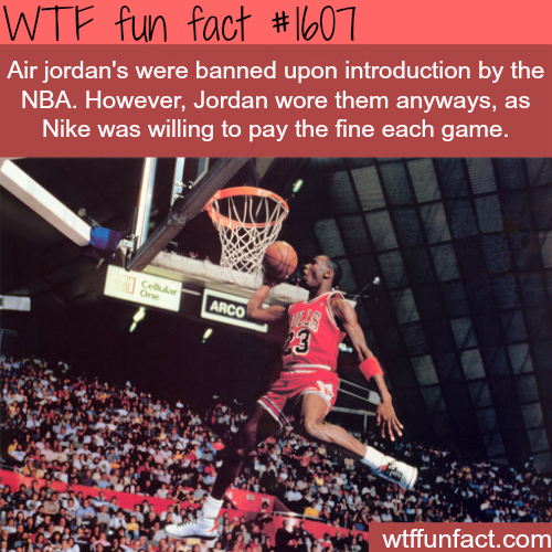 Air jordans banned by the NBA - WTF fun facts
