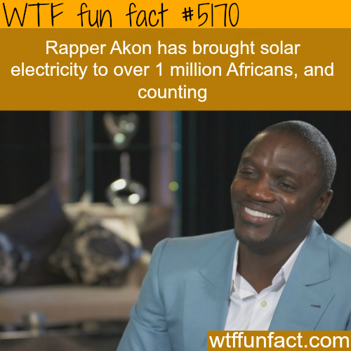 Akon brought solar electricity to over a million Africans - WTF fun facts