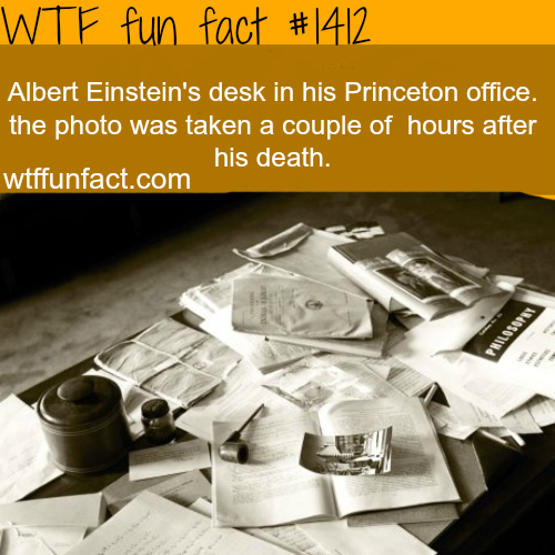 AlbertEinstein desk after his death