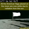 all american flags on the moon are now white wtf