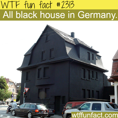 All black house in Germany - WTF fun facts