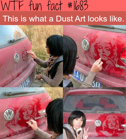 Amazing dust art - WTF fun facts