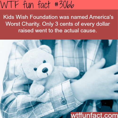 America's worst charity -  WTF fun facts