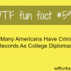 americans criminal records wtf fun facts