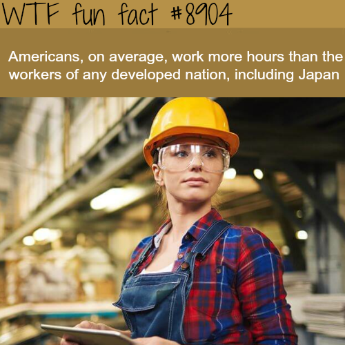 Americans work the most of any developed nation - WTF fun facts