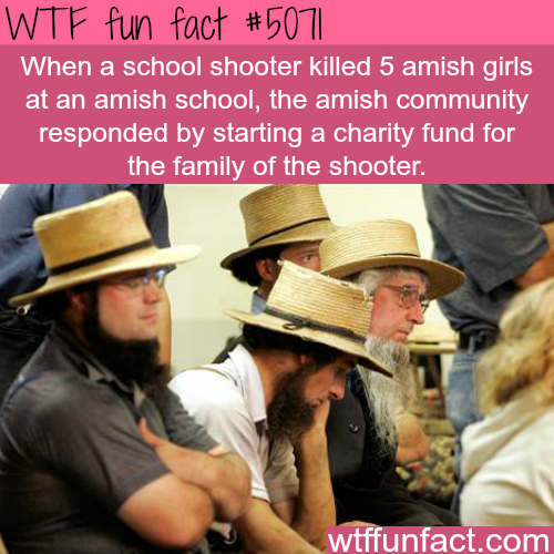Amish community starts a fund for a school shooter that killed their kids - WTF fun facts