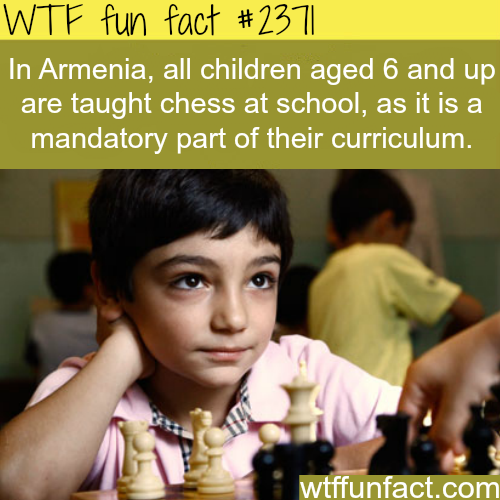 Amrmenia and chess at schools - WTF fun facts