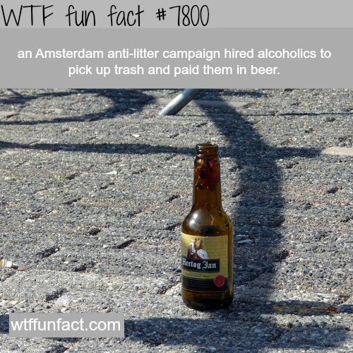 Amsterdam hired alcoholics to clean the streets - WTF fun facts