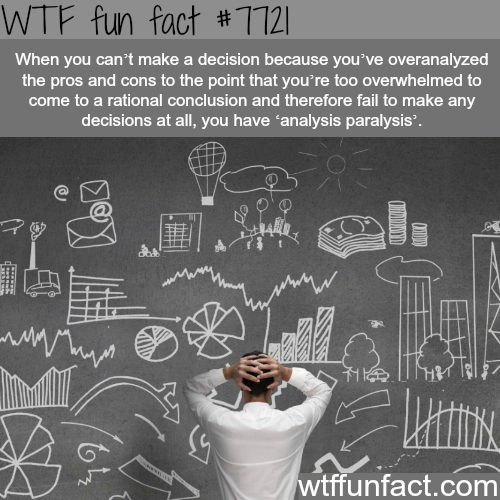 Analysis paralysis - WTF fun facts