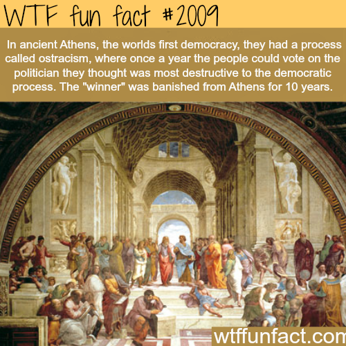 "Ancient Athens ""Ostracism"" - WTF fun facts"