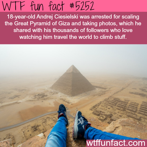 Andrej Ciesielski's  daredevil photography - WTF fun facts